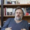 Slavoj Zizek, philosophe et psychanalyste slovene. Photo Albert Facelly pour l'Humanite Dimanche