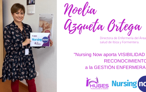Noelia Azqueta con Nursing Now HUGES