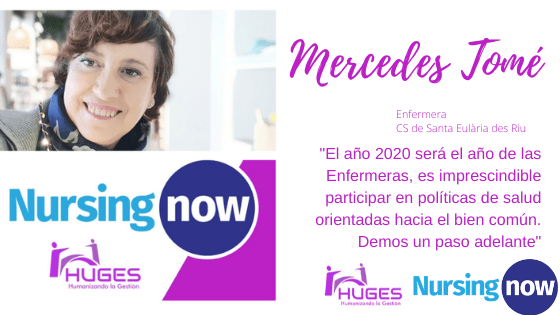 Mercedes Tomé con Nursing Now HUGES