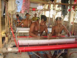 Sari sweatshop outside of Dhaka