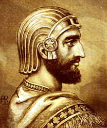 Cyrus the Great, the first king of Persia, freed the slaves of   Babylon, 539 B.C.