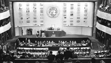 United Nations representatives from all regions of the world formally adopted the Universal Declaration of Human Rights on December 10, 1948.