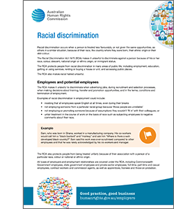 Racial Discrimination Australian Human Rights Commission
