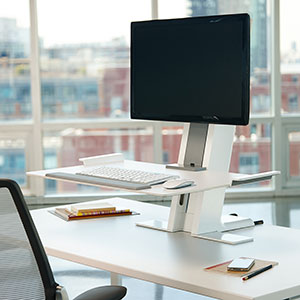 Sit Stand Desk Converters Amp Risers Humanscale
