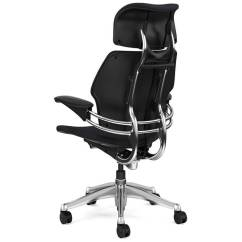 Freedom Task Chair With Headrest White Desk Chairs Wheels Ergonomic Office Executive Humanscale