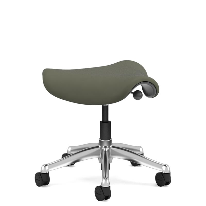 office chair armrest blue tufted dining ergonomic chairs desk seating humanscale saddle pony