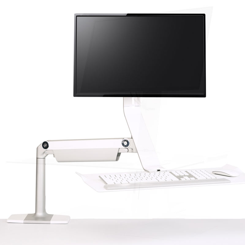 Sit Stand Desk Converters  Risers Humanscale