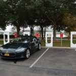 2013 Tesla Model S at a Supercharger station