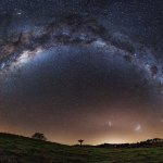 Three Galaxies over New Zealand
