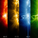 Multi Wavelength of a Sun Flare on Feb. 25, 2014