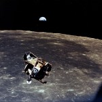 Lunar Module around the Moon