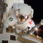 CSA-Astronaut-Dave-Williams-performs-a-spacewalk-during-Shuttle-Mission-STS--118