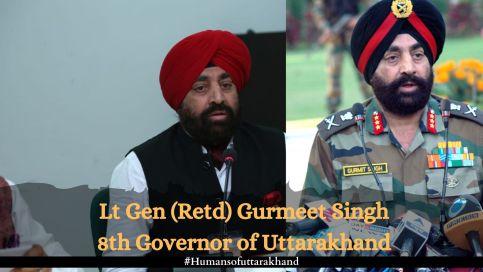 Lt Gen (Retd) Gurmeet Singh 8th Governor Uttarakhand
