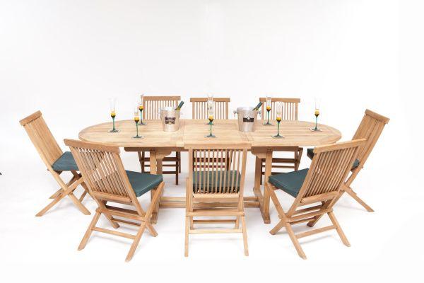 teak wood patio furniture set Honfleur Teak Garden Furniture Set | Humber Imports