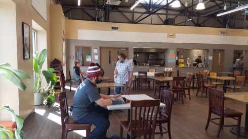 Cleaning El Paso Mission Dining Hall