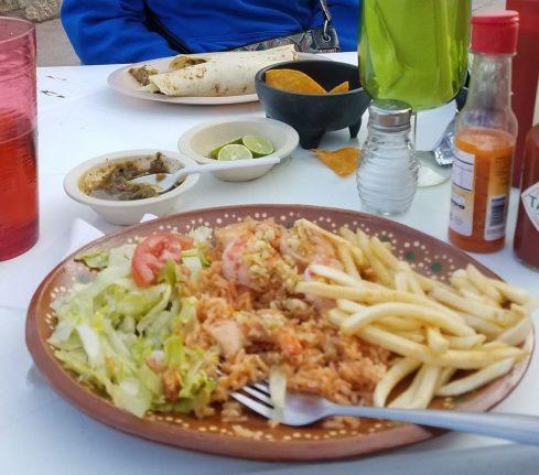 shrimp plate Apolo Cafe