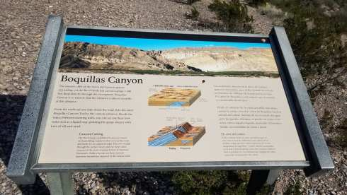 Boquilla Canyon Sign - Big Bend National Park During Government Shutdown