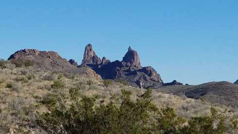 Mule Ears Mountain View - Chisos Basin During Government Shutdown