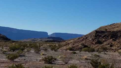 Santa Elena Canyon From Distance