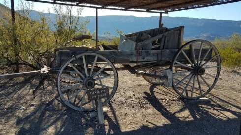Wagon at Castolon Historic District - Big Bend During Government Shutdown