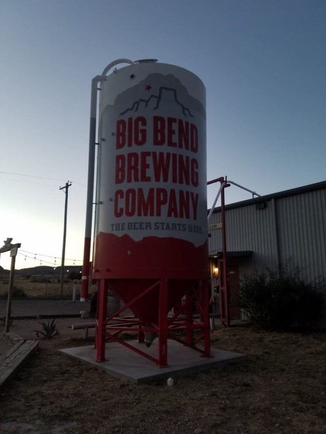 Big Bend Brewing Sign Out Front