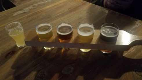 Brick Vault Brewery and BBQ Flight of Beers