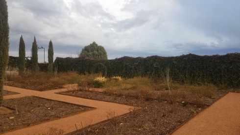 Gage Gardens gravel maze