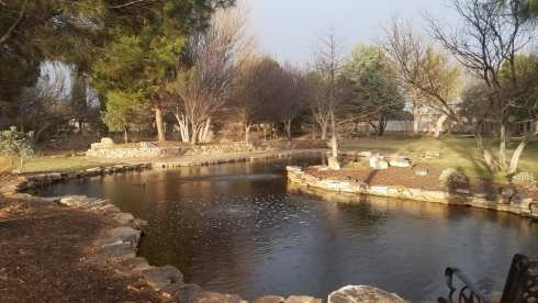 pond at Gage Gardens