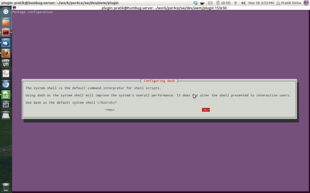 configure ubuntu to use bash as default shell