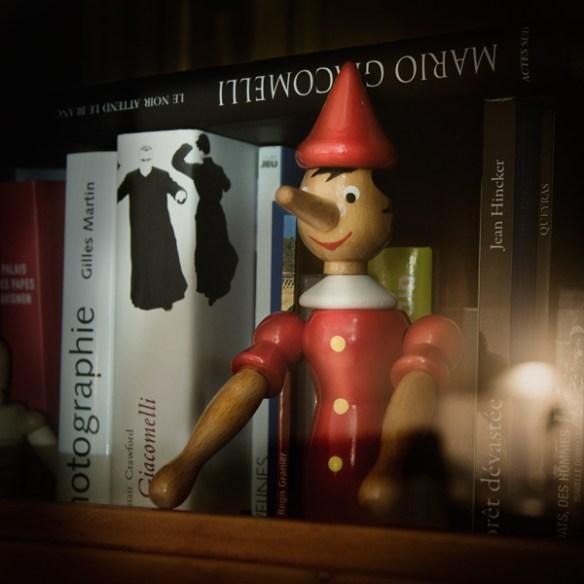 Pinocchio bibliothèque