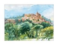 Vaucluse. Crillon le Brave (aquarelle)