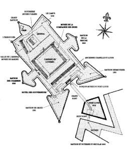 Le plan de la citadelle. Une inspiration des fortifications Vauban.