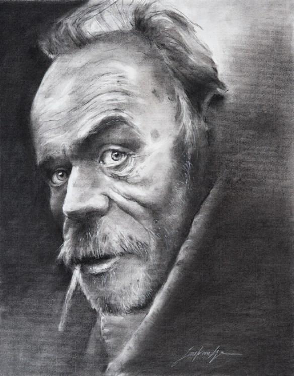 Fusain sur papier Ingres - format 50x65 cm