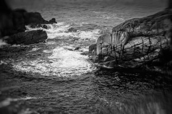 Morbihan, la pointe du Percho. En surplomb, mouvement et puissance.