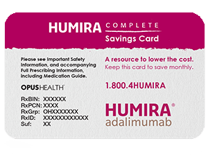 Patient Assistance & Copay Savings Card for HUMIRA® Cost