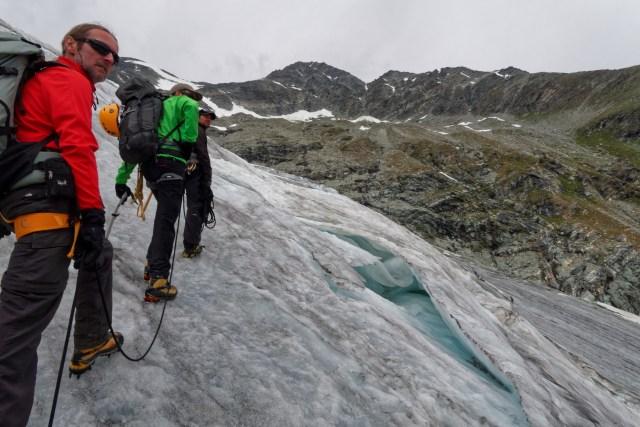 Wir erfreuen uns an den Gletscher-Skulpturen