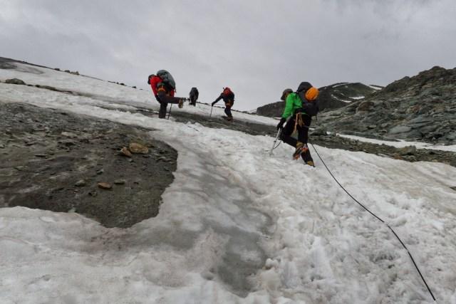 Statt festes Eis immer mehr Pflotsch-Schnee