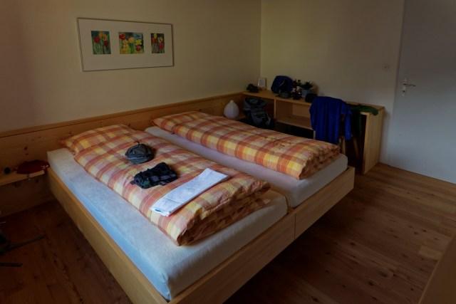 Das einfache, aber gemütliche Zimmer von mir und Tömu
