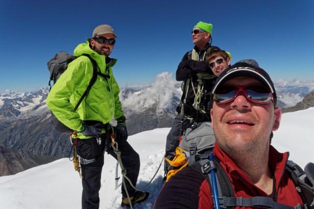 Das hart verdiente Gipfelfoto