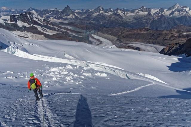 ...über den Monte-Rosa-Gletscher