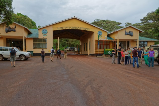 Parkeingang zum Ngorongoro-Krater