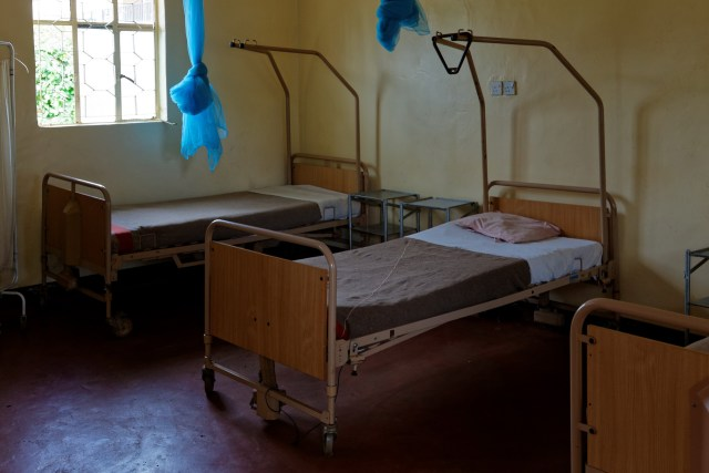 Spitalbetten vom Schweizer Militär