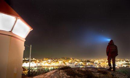Utsikt fra fyret. Foto: Atle Havnerås