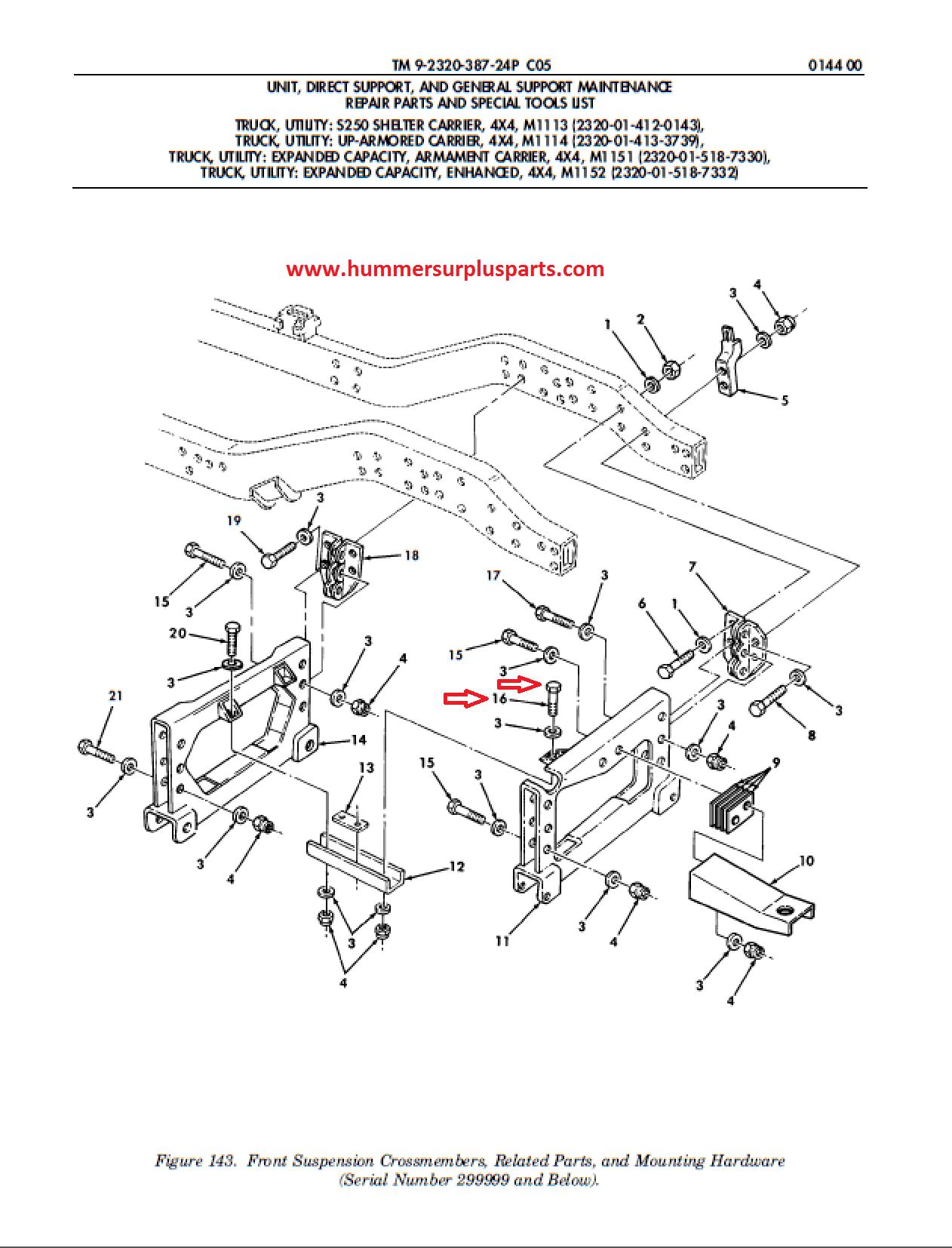 HMMWV SCREW CAP HEXAGON H 1/2-13 X 1.25 B1821BH050C125N