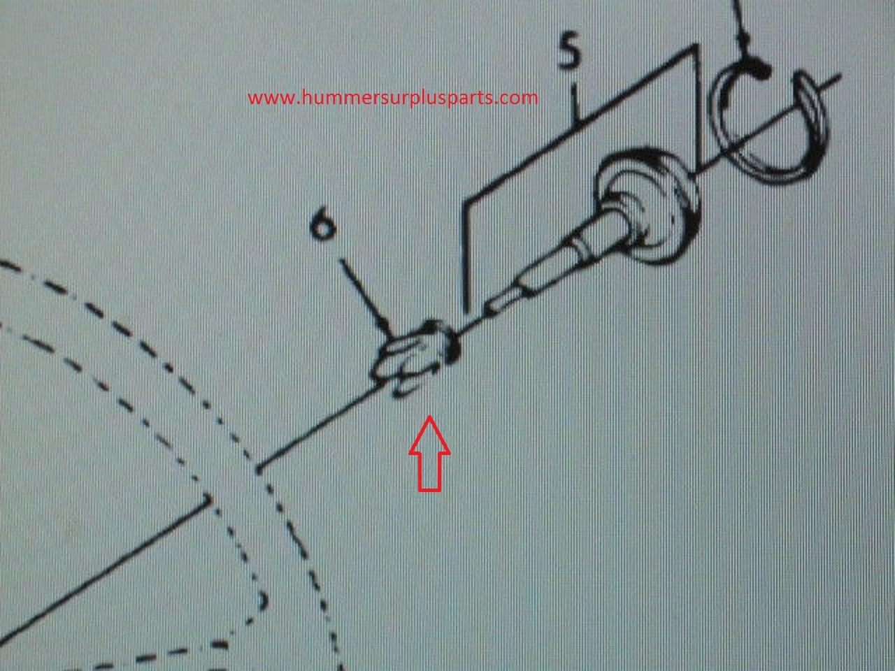 Hmmwv Horn Wiring Diagram Diy Enthusiasts Diagrams Schematic M998 Jeep M151 Button Switch Retainer 8754125 5930 01 153 Rh Hummersurplusparts Com 4