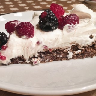 Chocolate Pavlova with Fresh Berries