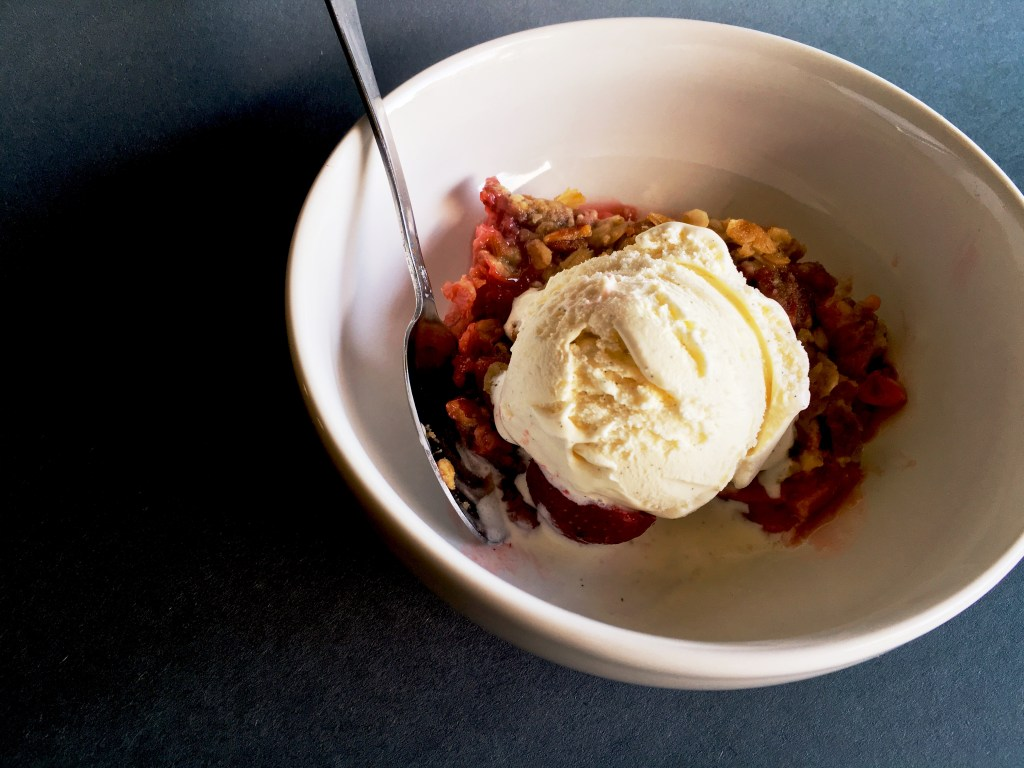 Strawberry-Rhubarb Crisp 4