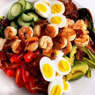 Shrimp Cobb Salad With Cilantro Lime Dressing