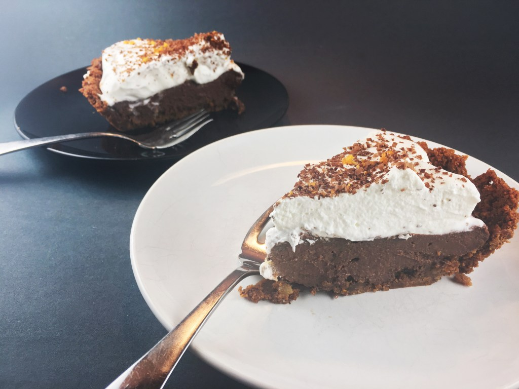Chocolate with Orange Esssence Pie in Gingersnap Crust