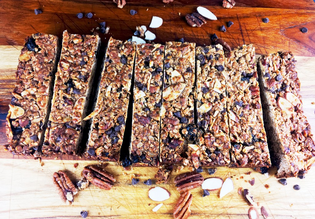 Chocolate Pecan Cherry Granola Bars